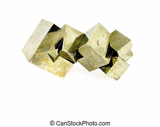 Pyrite Fools Gold, Iron Ore - An aggregate of interlocked...