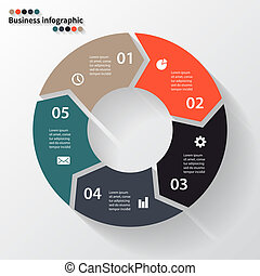 Circle arrows for your info graphic - Layout for your...