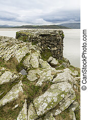 World War II pillbox, Borth y Gest, at the end of the...