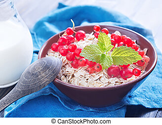 oat flakes with red currant