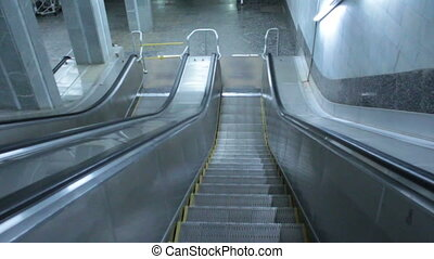 Escalator stairway - Classic urban escalator stairways