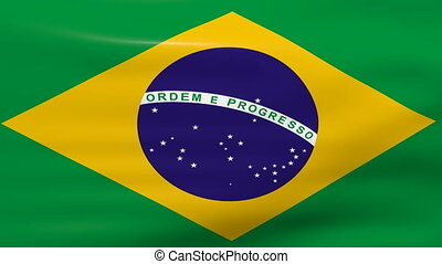 Waving Brazil Flag, loop ready - Waving Brazil Flag, ready...