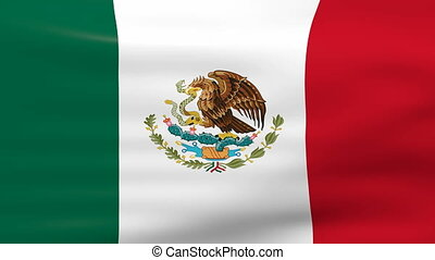 Waving Mexico Flag, loop ready. - Waving Mexico Flag, ready...