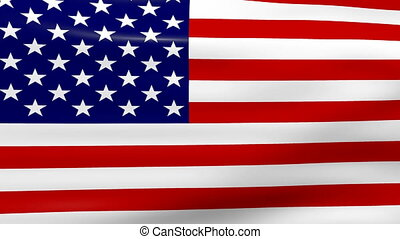 Waving USA Flag, loop ready - Waving USA Flag, ready for...