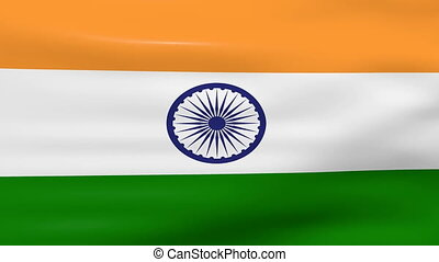 Waving India Flag, loop ready - Waving India Flag, ready for...