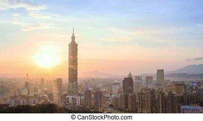 Nice view of Taipei night, Taiwan