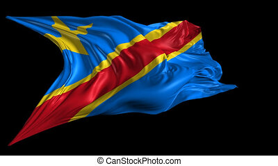 Democratic Republic of Congo flag - Beautiful 3d animation...