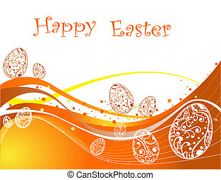 Happy Easter background - Orange Happy Easter background