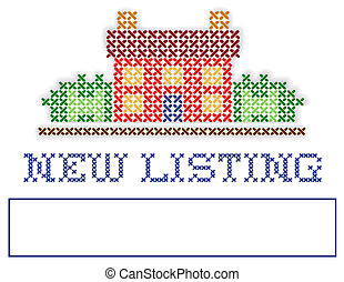 Real Estate NEW LISTING Yard Sign - New Listing real estate...