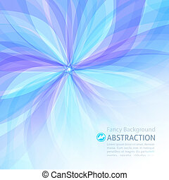 floral abstract - vector abstract background with flower and...