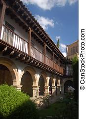 Gallery of entrance in Las Duenas convent. Salamanca, Spain