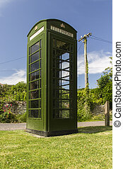 Green Telephone Box UK - Green version of the British K6...