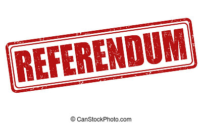 Referendum stamp - Referendum grunge rubber stamp on white,...