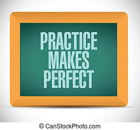 practice makes perfect message illustration design over a...