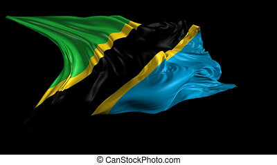Flag of Tanzania - Beautiful 3d animation of Tanzania flag...