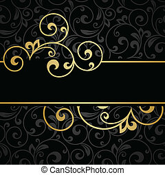 Invitation card. Abstract flower background. 10 eps.