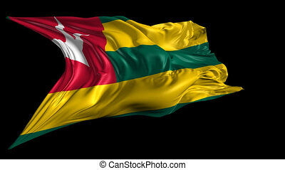 Flag of Togo - Beautiful 3d animation of Togo flag with...