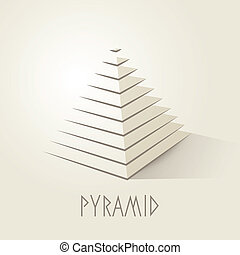 Pyramid shape abstract symbol