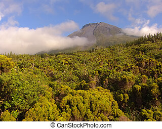 Pico mountain in azores