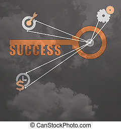 Key to Success business concept background design