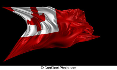 Flag of Tonga - Beautiful 3d animation of Tonga flag with...