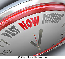 Past Now Present Future Time Clock Forecast Today Tomorrow -...