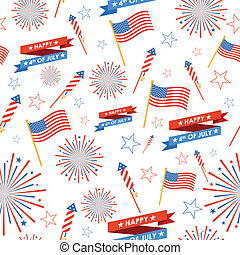 Seamless Pattern for 4th of July - illustration of seamless...