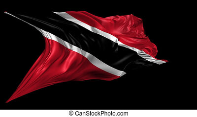 Flag of Trinidad - Beautiful 3d animation of Trinidad Flag...