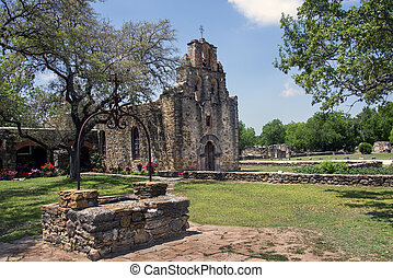 Mission Espada, San Antonio Texas - Mission Espada in the...