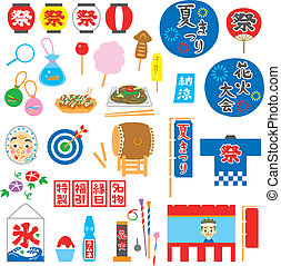summer festival in Japan, items