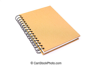 book - yellow book isolated on white background