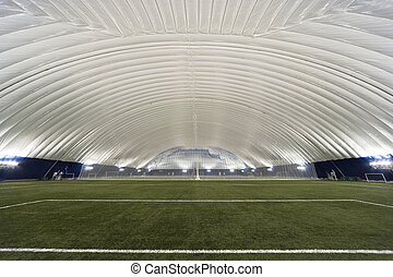 New Sports Dome interior - Interior view of a multi-sport...