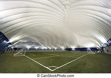 New Sports Dome interior - corner view - Interior view of a...