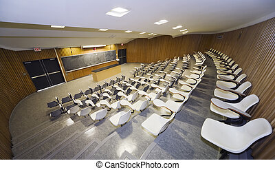 Lecture Hall - Interior view of a college lecture hall