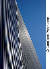 Geometric lines - Geometric pattern on a metal clad building