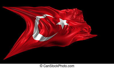 Flag of Turkey - Beautiful 3d animation of Turkey flag with...
