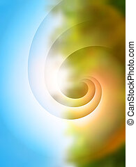Green abstract blurred background - Green and blue abstract...