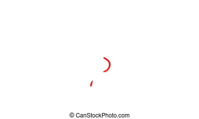 Red Question Mark Outline - Computer generated image. HD...