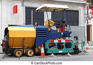 Paving machine - Asphalt surfacing and paving machine at...