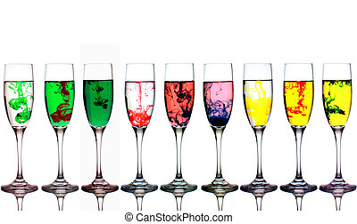 Colored Mixture Glasses
