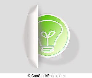 Green ideas about eco bulb energy icon
