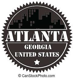 Atlanta-label - Label with text Atlanta-Georgia,vector...