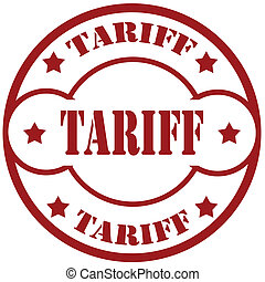 Tariff-stamp - Rubber stamp with text Tariff,vector...
