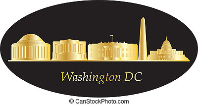 washington dc city skyline