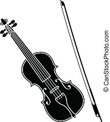 violin stencil vector illustration