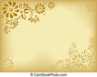 vintage floral background - old paper