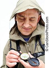 Looking at compass