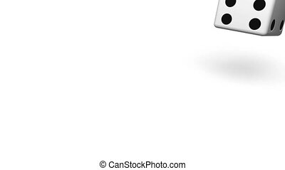 Rolling White Dice - Computer generated image HD 16:9 1920 x...
