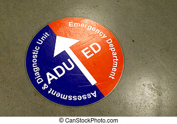 Emergency department sign - Emergency department, ED, and...