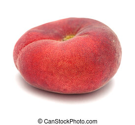 donut peaches - flat donut peaches isolated on white